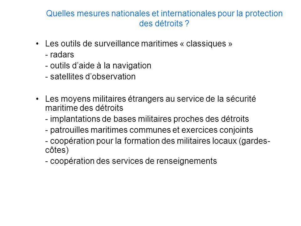 Quelles mesures nationales et internationales pour la protection des détroits ? Les outils de surveillance maritimes « classiques » - radars - outils