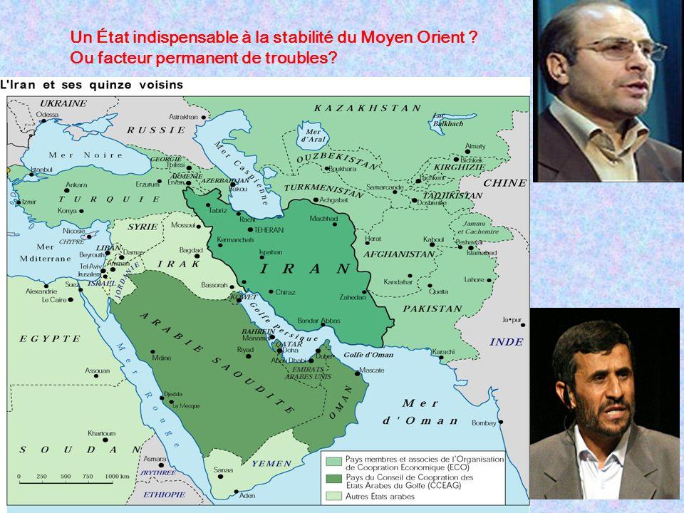 Un État indispensable à la stabilité du Moyen Orient ? Ou facteur permanent de troubles?