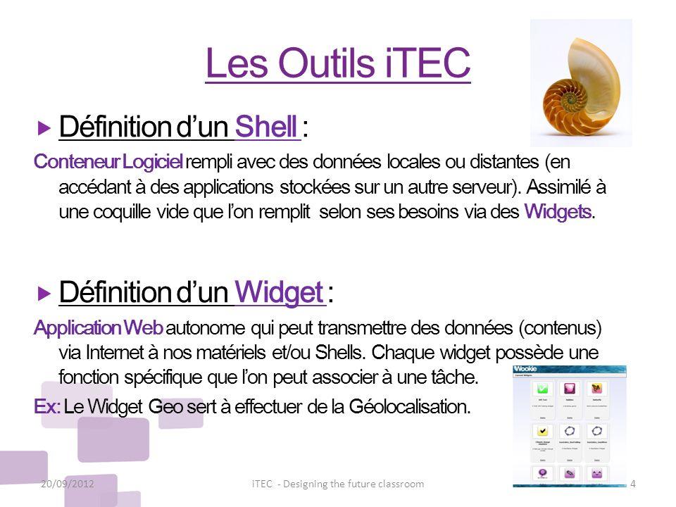Les Outils iTEC Définition dun Shell : Conteneur Logiciel rempli avec des données locales ou distantes (en accédant à des applications stockées sur un