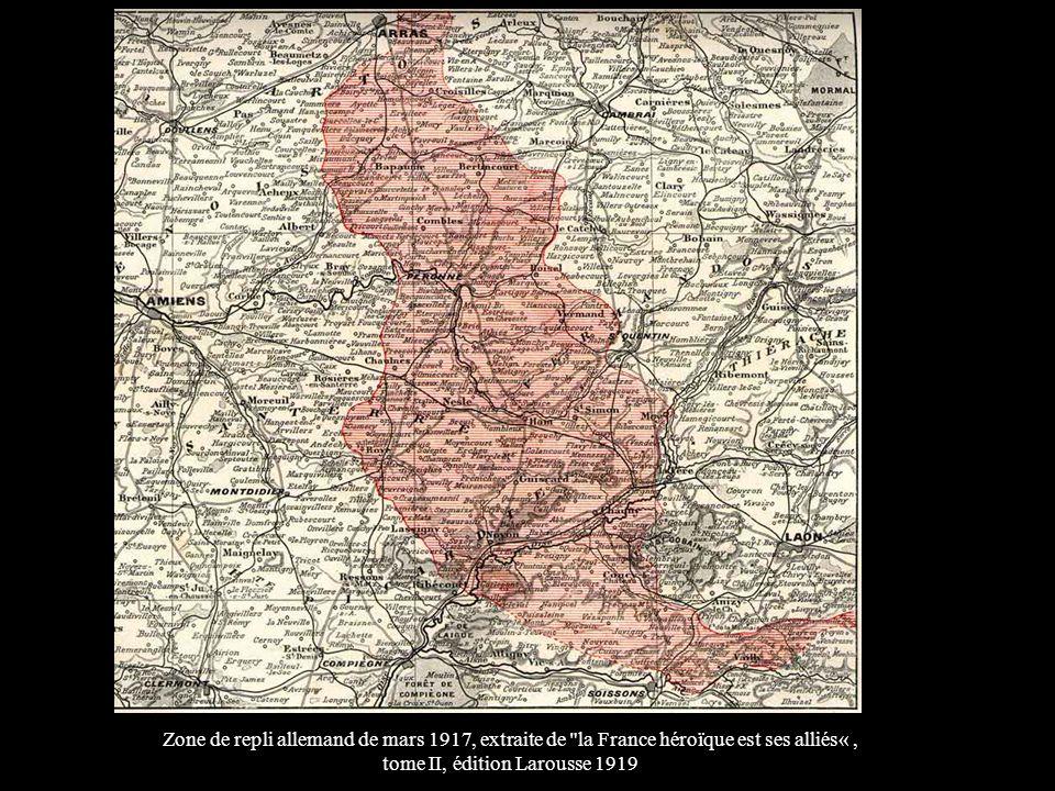 Zone de repli allemand de mars 1917, extraite de