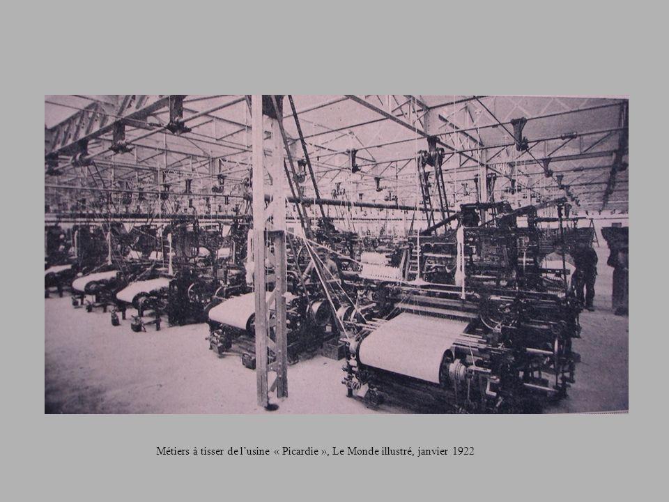 Métiers à tisser de lusine « Picardie », Le Monde illustré, janvier 1922