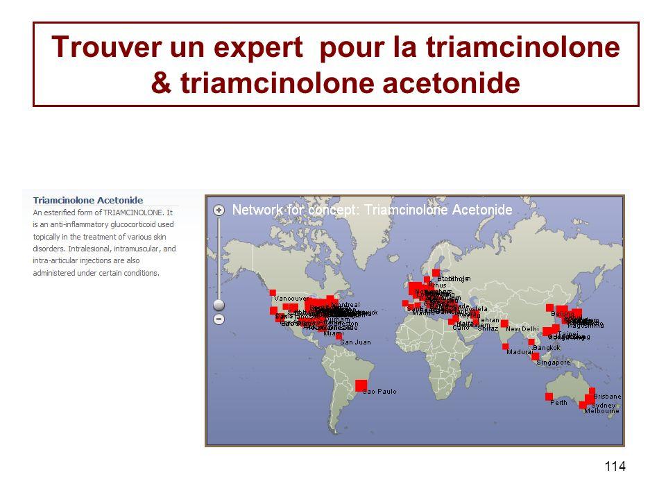114 Trouver un expert pour la triamcinolone & triamcinolone acetonide