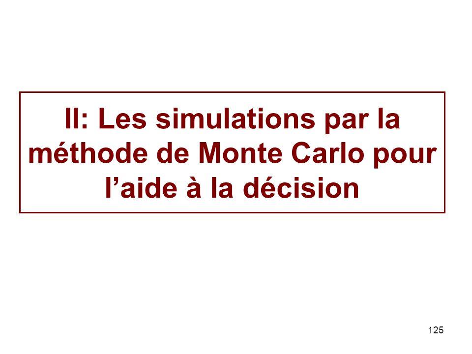 125 II: Les simulations par la méthode de Monte Carlo pour laide à la décision