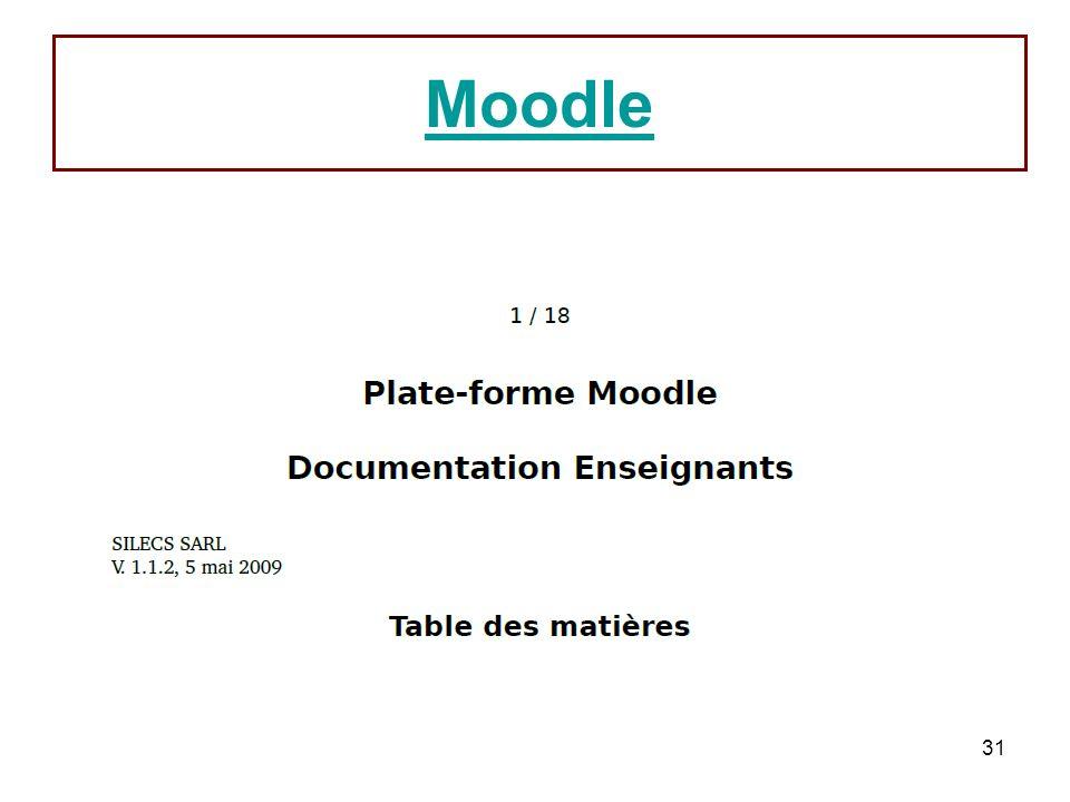 31 Moodle