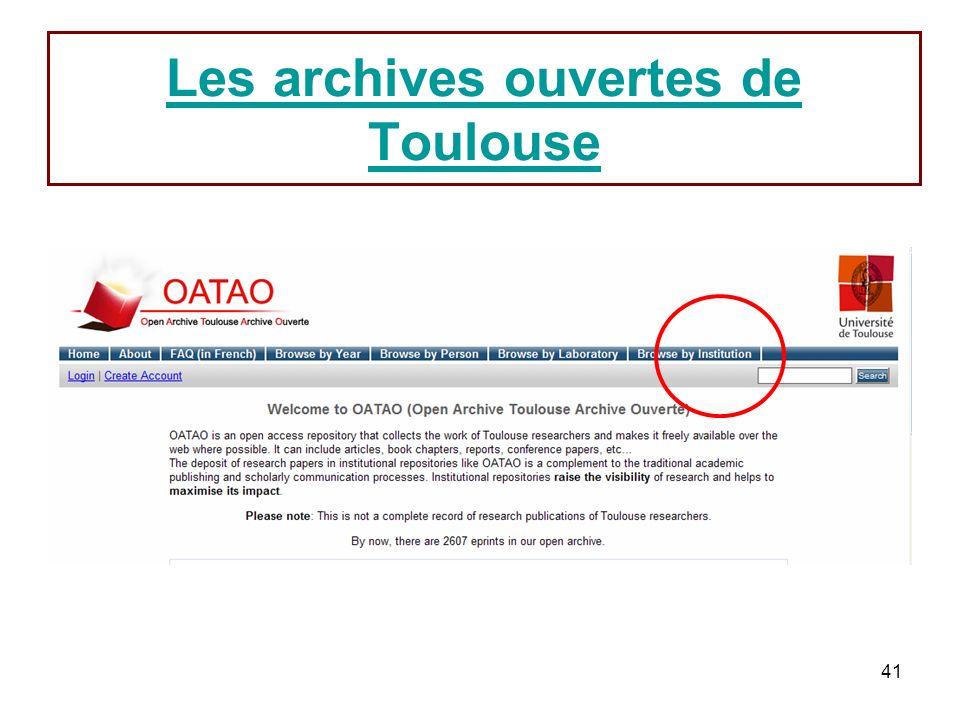 41 Les archives ouvertes de Toulouse