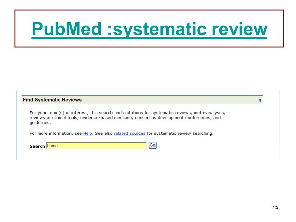75 PubMed :systematic review