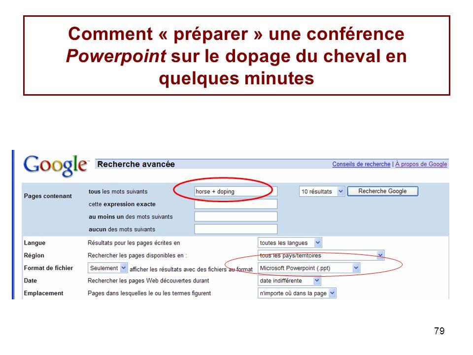 79 Comment « préparer » une conférence Powerpoint sur le dopage du cheval en quelques minutes