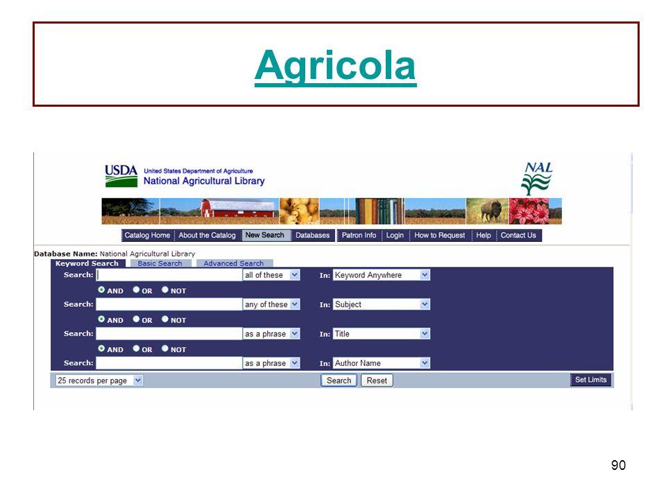 90 Agricola
