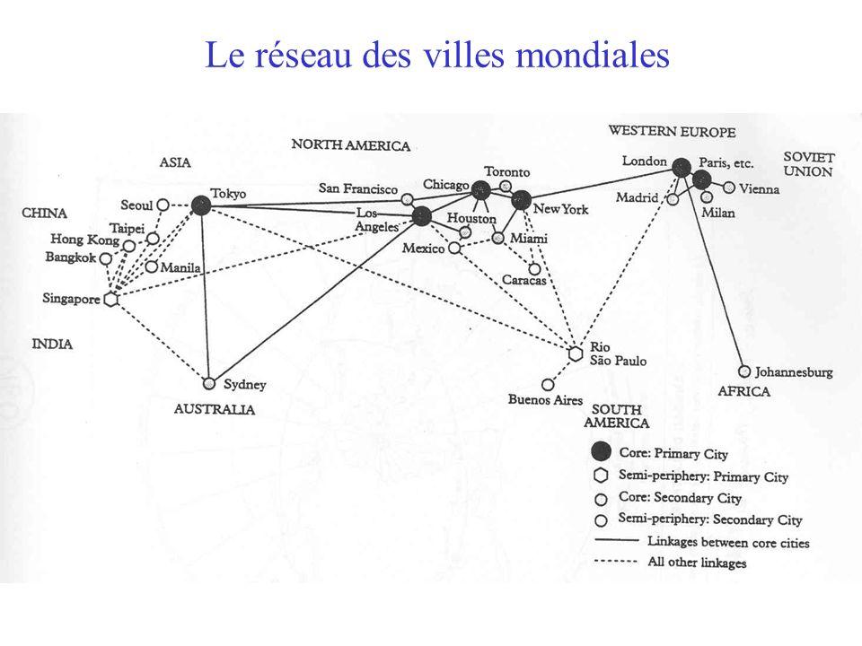 Le réseau des villes mondiales