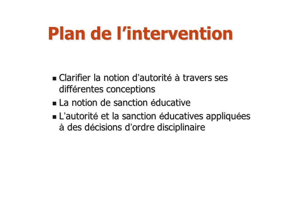Buts de la sanction éducative (3) Finalité politique La sanction vise à réhabiliter linstance de la loi, garante du vivre ensemble.