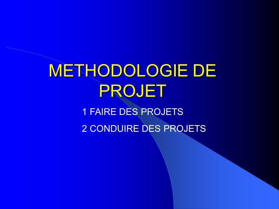 METHODOLOGIE DE PROJET 1 FAIRE DES PROJETS 2 CONDUIRE DES PROJETS