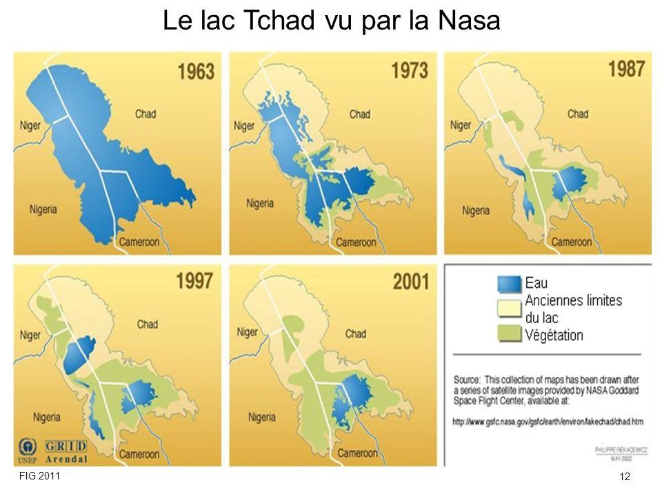 Le lac Tchad vu par la Nasa FIG 2011 12