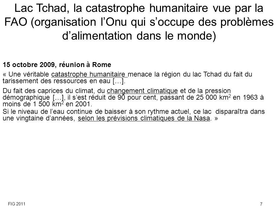 15 octobre 2009, réunion à Rome « Une véritable catastrophe humanitaire menace la région du lac Tchad du fait du tarissement des ressources en eau […]