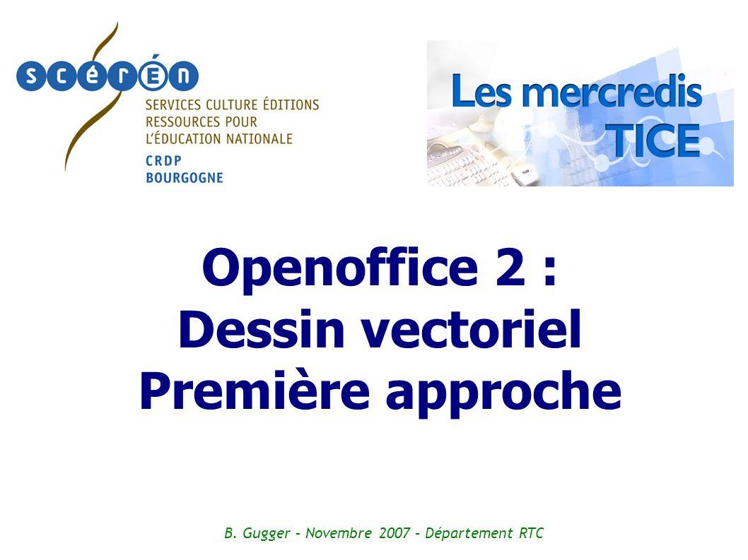 Openoffice 2 : Dessin vectoriel Première approche B. Gugger – Novembre 2007 – Département RTC