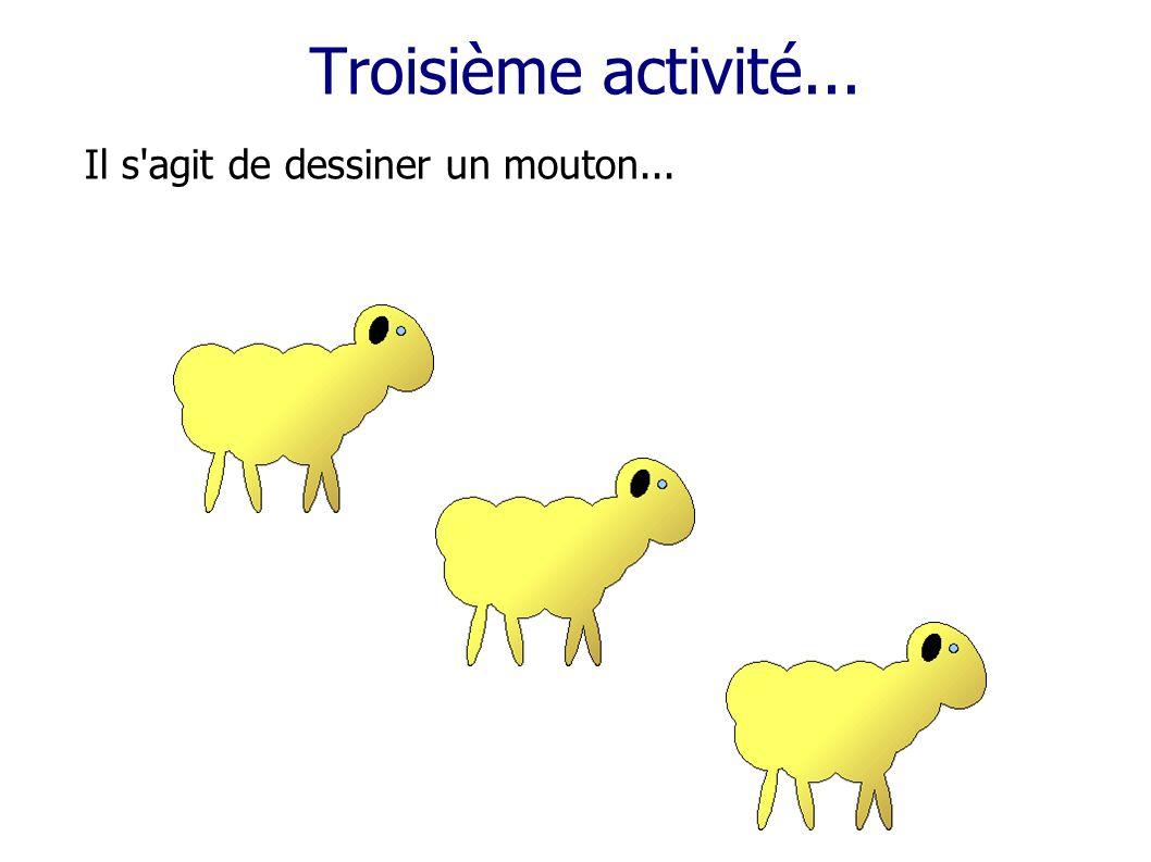 Troisième activité... Il s'agit de dessiner un mouton...