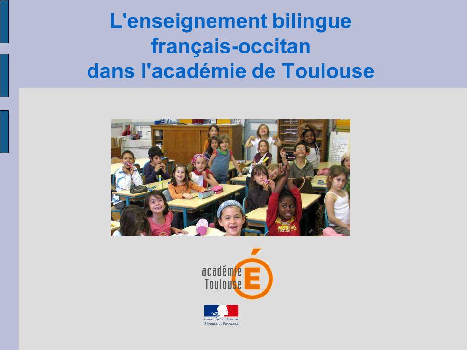 L'enseignement bilingue français-occitan dans l'académie de Toulouse