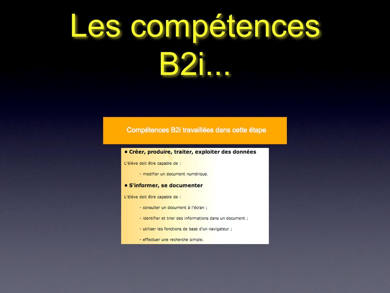 Les compétences B2i...