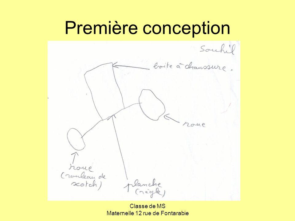 Classe de MS Maternelle 12 rue de Fontarabie Première conception