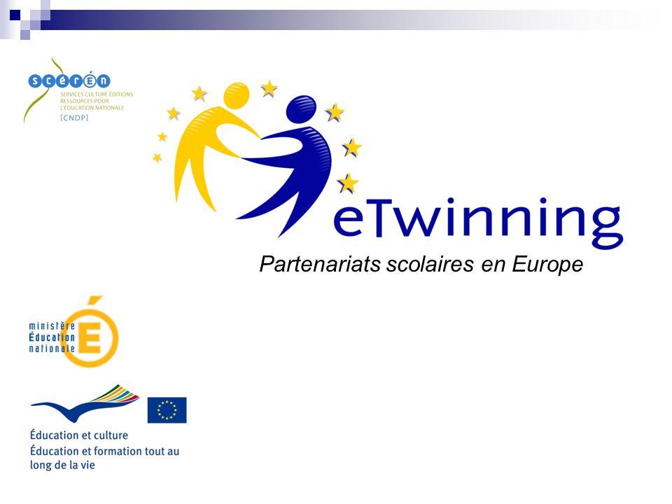 eTwinning Une action pilote de la Commission européenne lancée en 2005 pour 3 ans Puis eTwinning intégrée au nouveau programme européen Education et formation tout au long de la vie (Life Long Learning programme) pour 6 ans