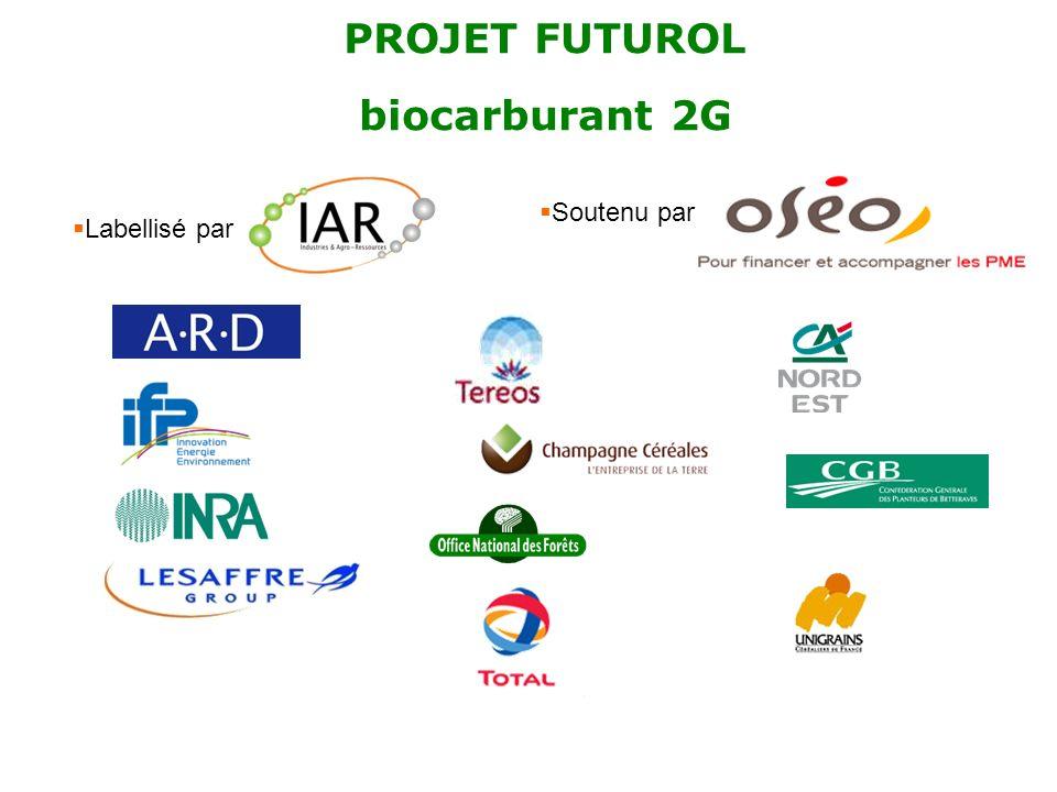 PROJET FUTUROL biocarburant 2G Labellisé par Soutenu par