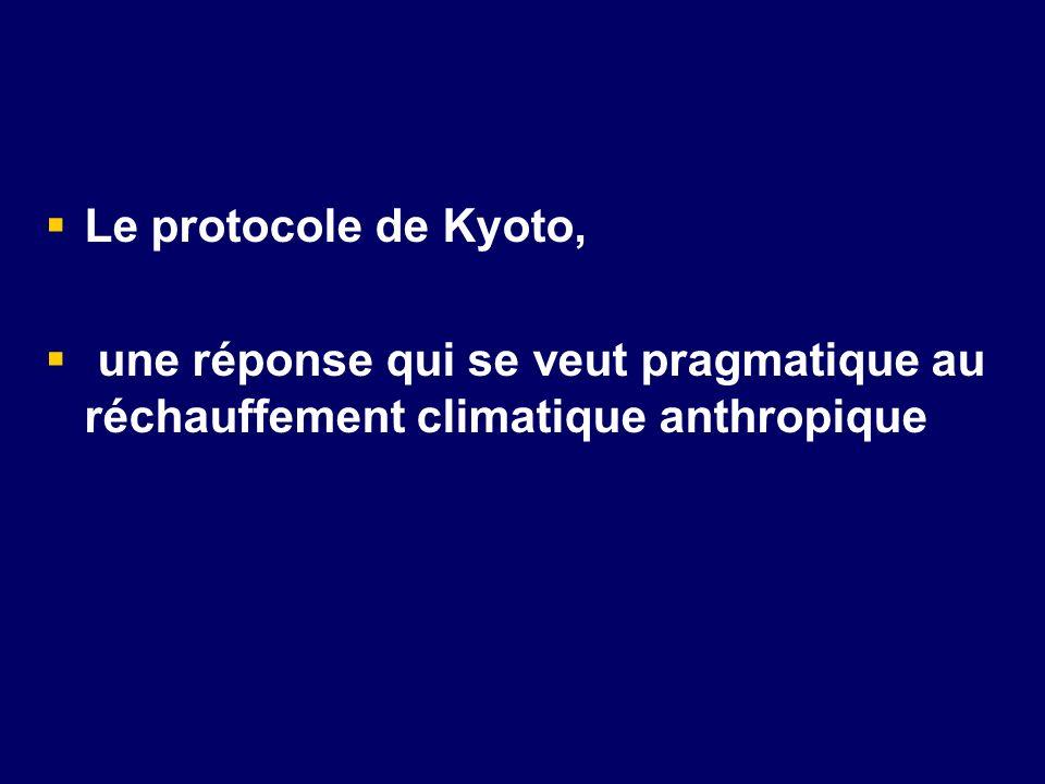 Le protocole de Kyoto, une réponse qui se veut pragmatique au réchauffement climatique anthropique