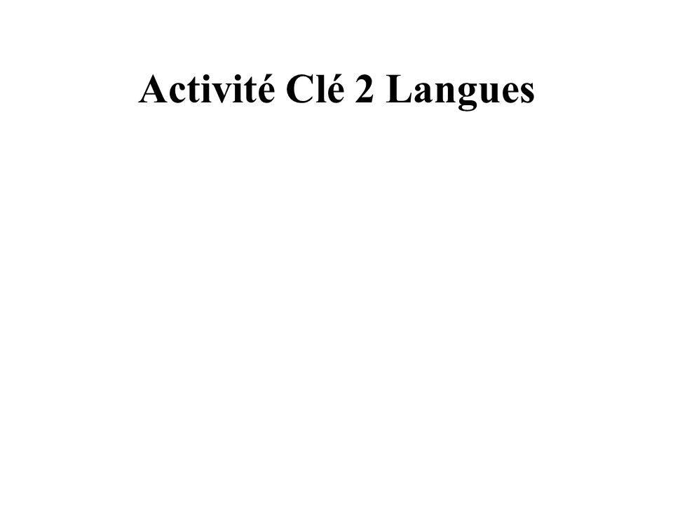 Activité Clé 2 Langues