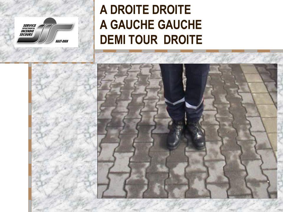 A DROITE DROITE A GAUCHE GAUCHE DEMI TOUR DROITE Votre logo ici