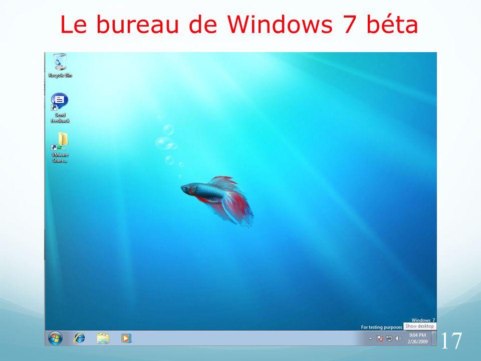 Le bureau de Windows 7 béta 17