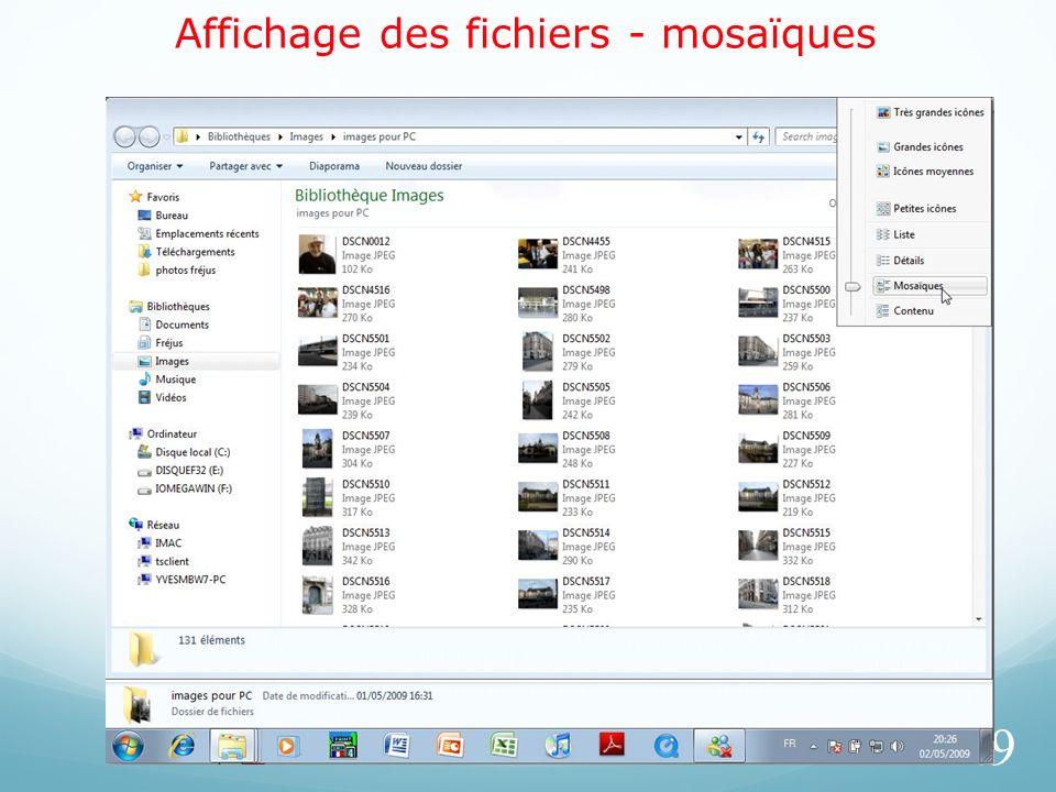 Affichage des fichiers - mosaïques 49