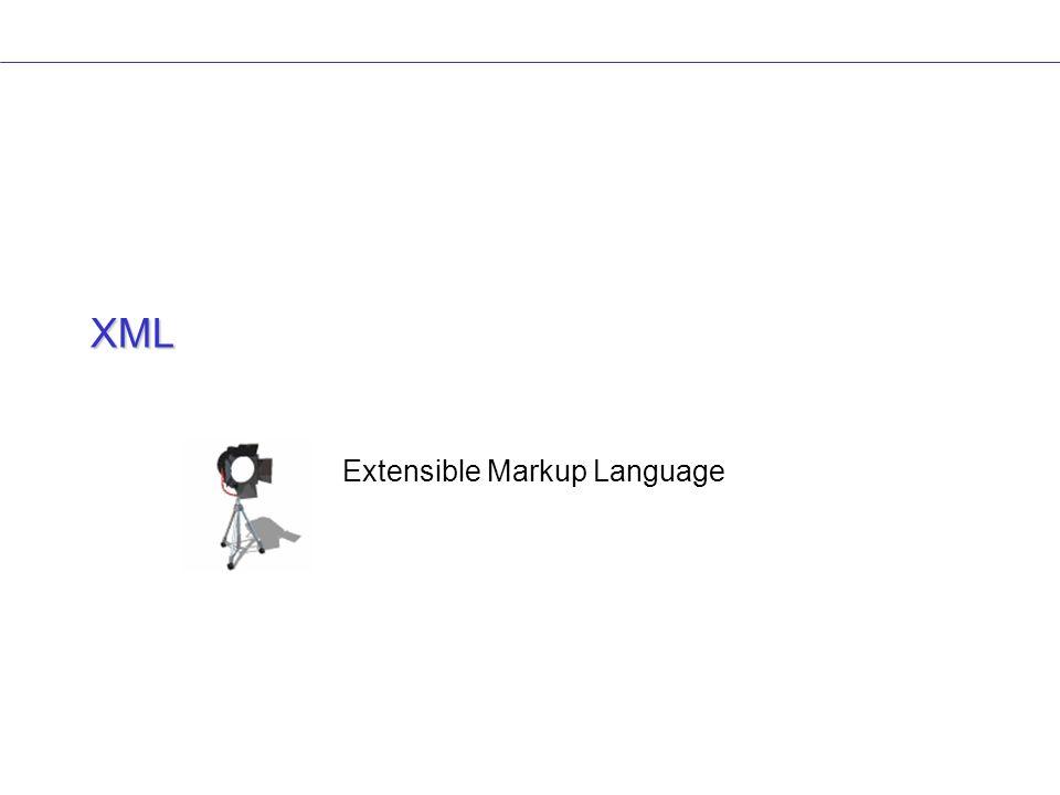 Modèle de document Il existe deux moyens pour créer un langage dérivé de XML 1.XML sans modèle On parle de document bien formé, si le document satisfait aux règles minimales de XML 2.XML modèle de document Création d une spécification qui établit les règles propres du document.