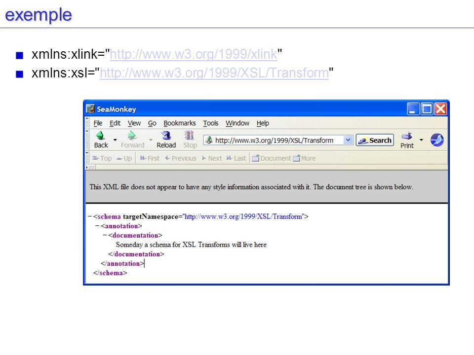 exemple xmlns:xlink=