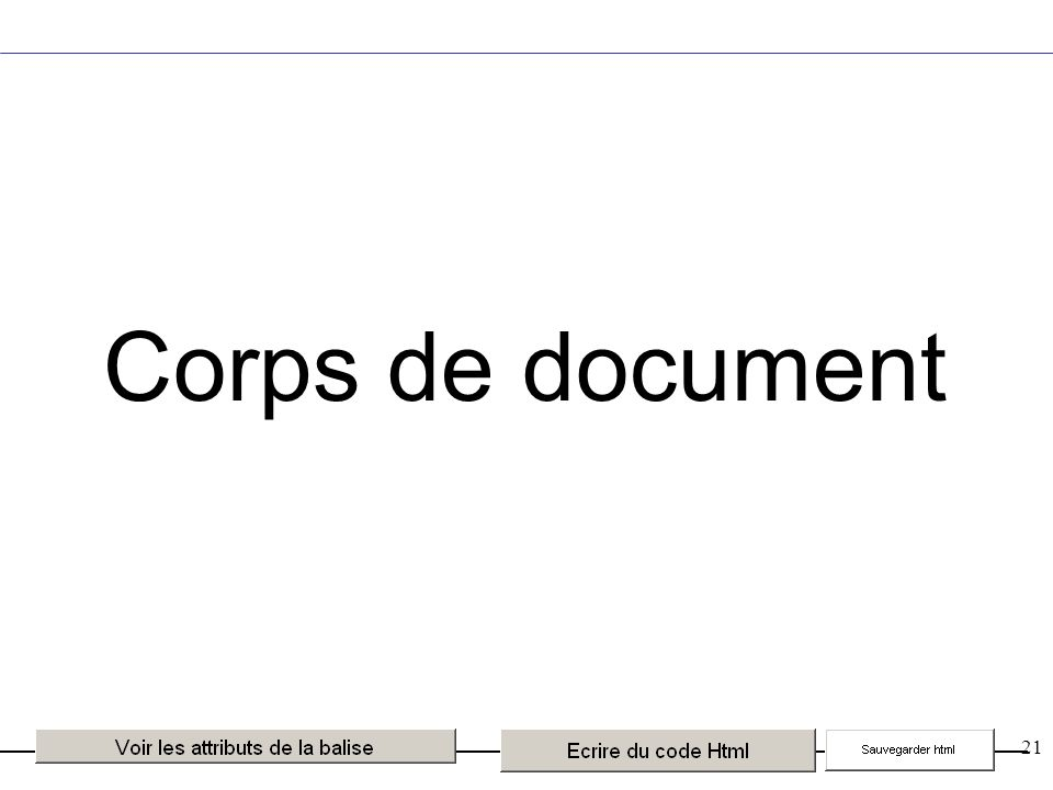 21 Corps de document