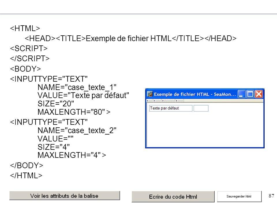 87 Exemple de fichier HTML