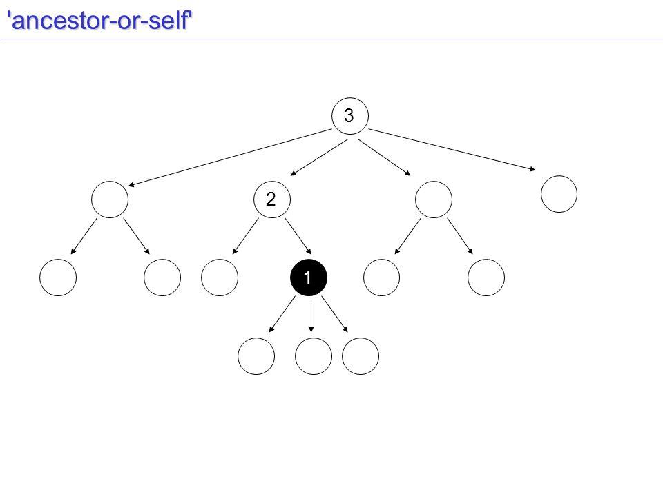 ancestor-or-self 2 3 1