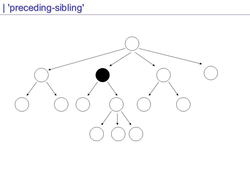 | preceding-sibling