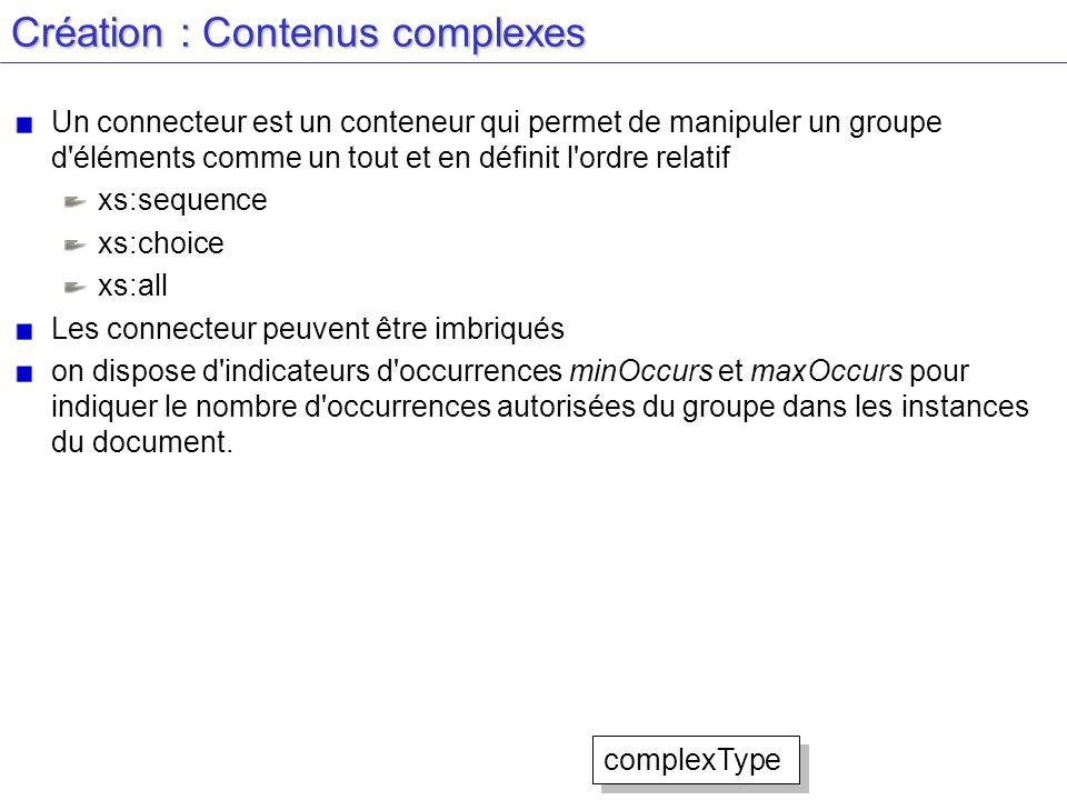 Création : Contenus complexes Un connecteur est un conteneur qui permet de manipuler un groupe d'éléments comme un tout et en définit l'ordre relatif