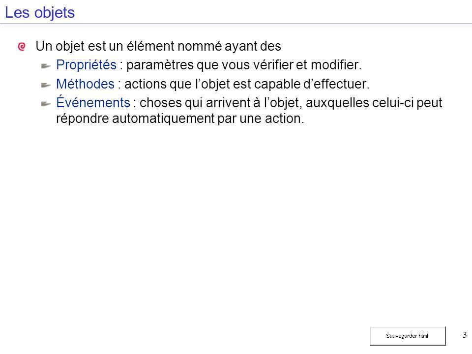 4 Les événements Action Event JavaScript DOMRéaction L utilisateur place la souris sur l objet Identification d une action concernant l objet Indique à l objet ce qu il doit faire Localise l objet dans la page WEB La source de l image Change