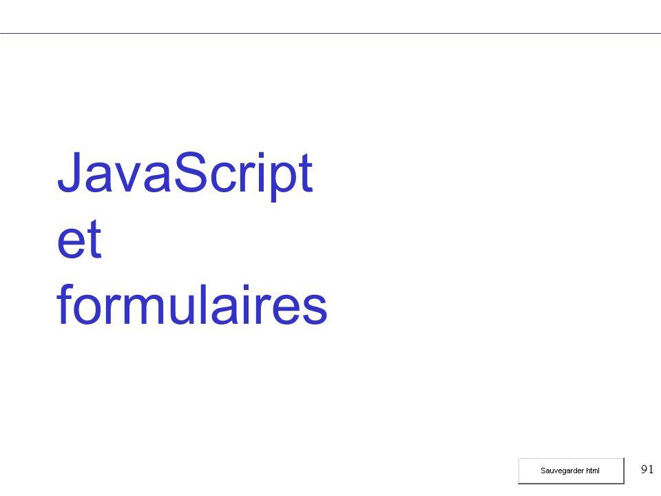 91 JavaScript et formulaires