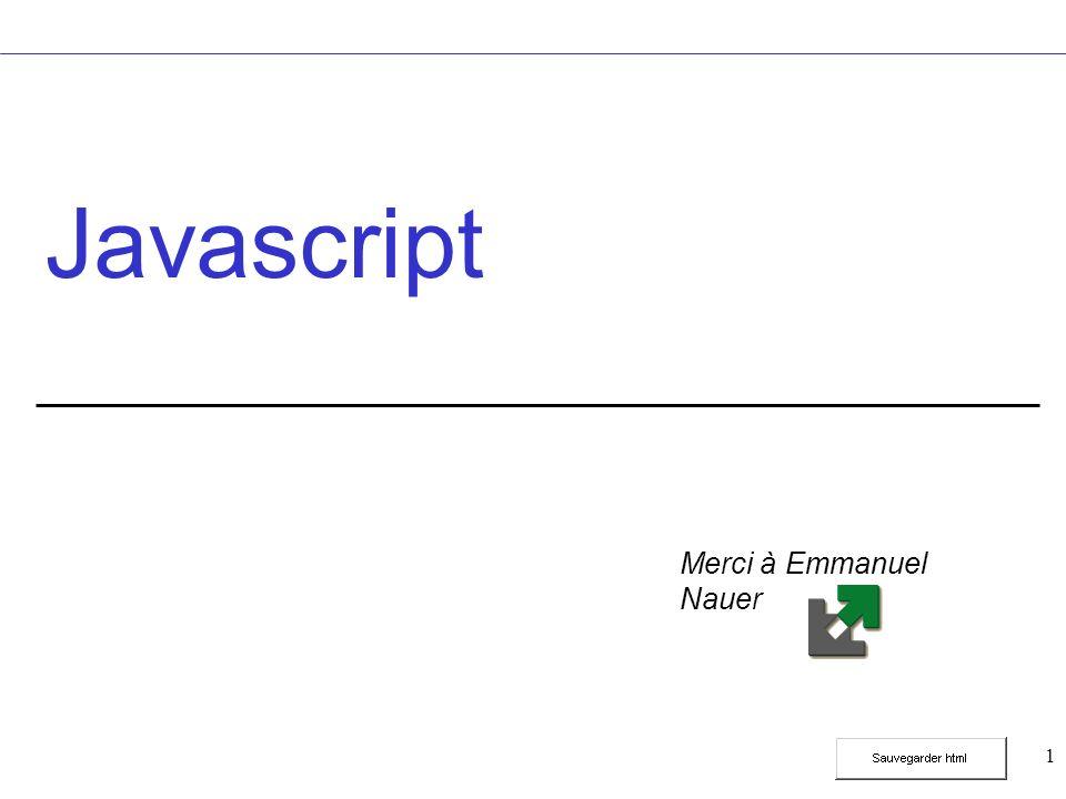 82 Fonctions mathématiques Exemple document.write(Math.random()); document.write(Math.min(5,4)); document.write(Math.exp(1)); document.write(Math.ceil(2.2)); document.write(Math.floor(2.2)); document.write(Math.round(2.2)); document.write(Math.pow(2,3));.8012453357071934 4 2.718281828459045 3 2 8