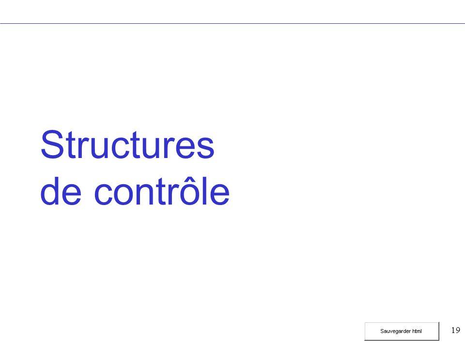 19 Structures de contrôle