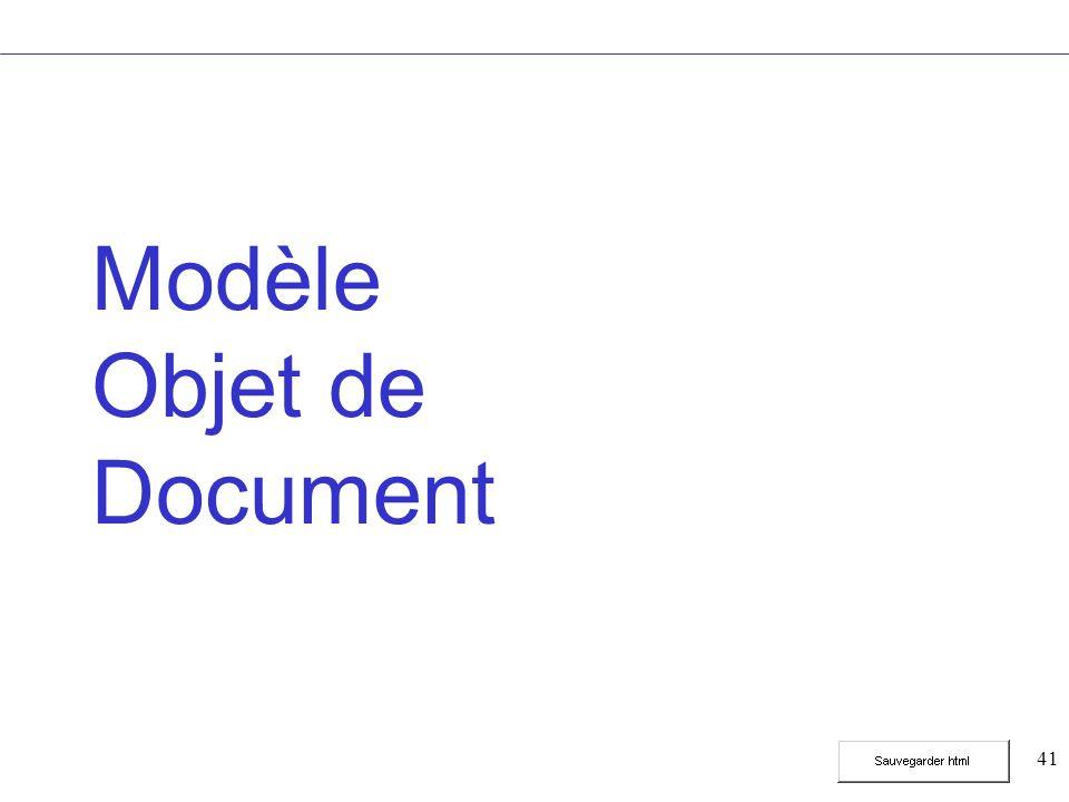 41 Modèle Objet de Document