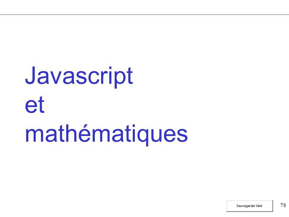 78 Javascript et mathématiques