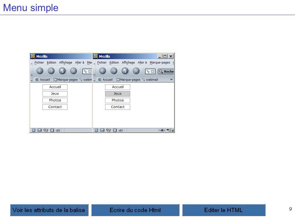 20 Les onglets Il faut bien comprendre que pour chaque feuille du site, il faudra modifier la feuille active.