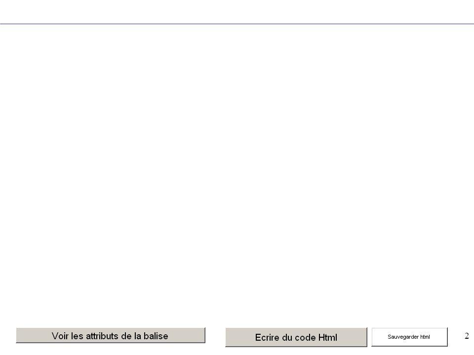 33 Mise en forme des paragraphes … … Centre les éléments inclus entre la balise ouvrante et la balise fermante … … Justifie les éléments inclus entre la balise ouvrante et la balise fermante À utiliser avec prudence !<BR/> Pas de balise fermante .