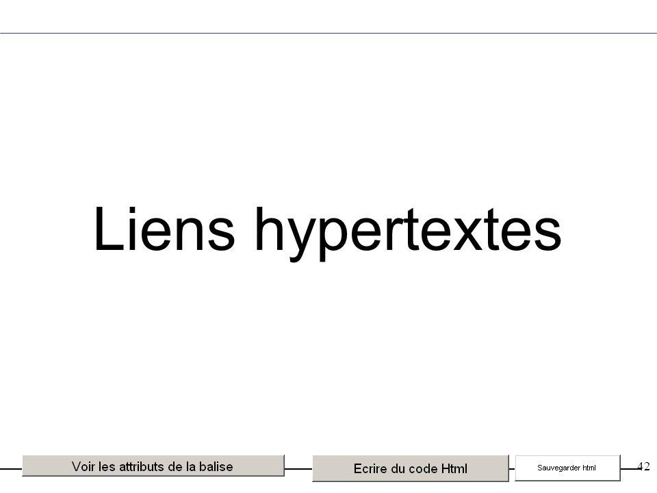 42 Liens hypertextes