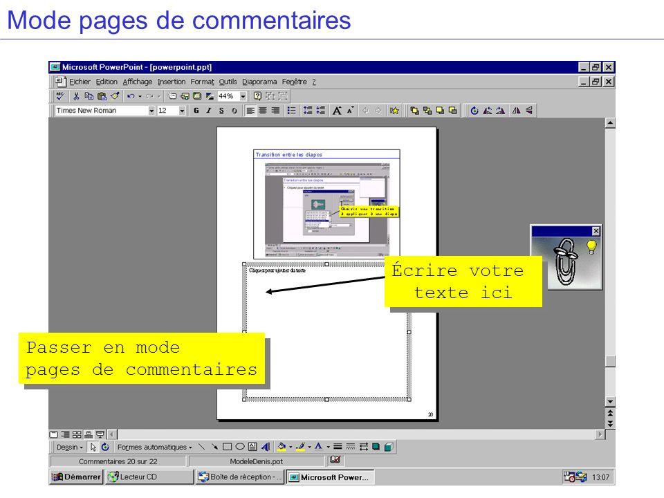 Mode pages de commentaires Passer en mode pages de commentaires Passer en mode pages de commentaires Écrire votre texte ici Écrire votre texte ici