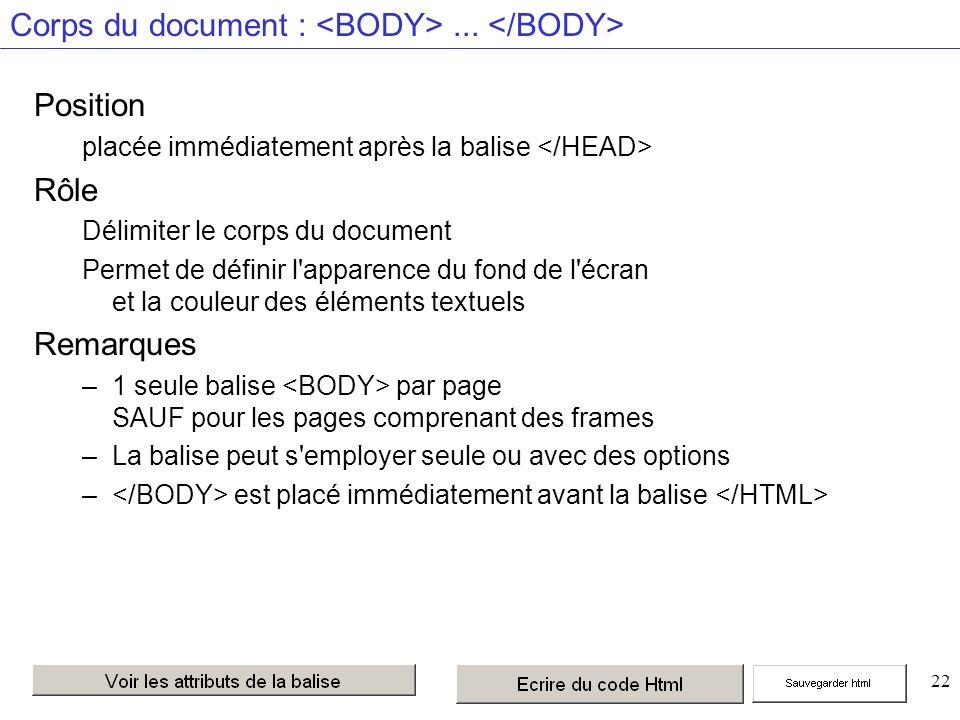 22 Corps du document :...
