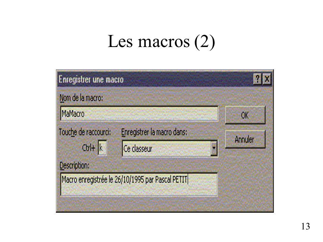 Les macros (2) 13