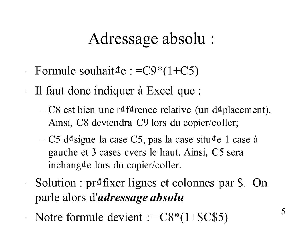 Structuration d une feuille de calcul : version dfinitive 6