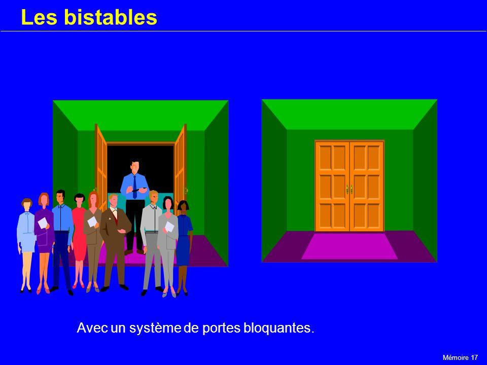 Mémoire 17 Les bistables Avec un système de portes bloquantes.